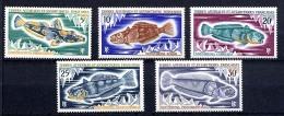 TAAF 1971, POISSONS, 5 Valeurs, Neufs** / Mint MNH. R2364 - Nuevos