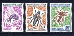 TAAF 1972, INSECTES, 3 Valeurs, Neufs / Mint. R2366 - Terre Australi E Antartiche Francesi (TAAF)
