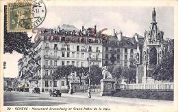 (Suisse) - Genève - Monument Brunschwig Et Grand Hôtel De La Paix - 2 SCANS - GE Genève