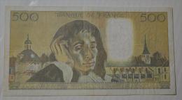 500 Frs Pascal J275 TTB - 1962-1997 ''Francs''