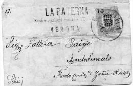 1878    LETTERA CON ANNULLO  VERONA - Revenue Stamps