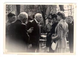 Regime De Vichy: Hommage Etudiants Au Marechal Petain 9 Avril 1942 Reception Des Etudiantes General De La Porte Du Theil - Guerra, Militari