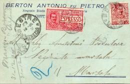 1906   CARTOLINA ESPRESSO CON ANNULLO CARPENEDO VENEZIA - Poste Exprèsse