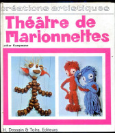 THEATRE DE MARIONNETTES Par Lothar Kampmann CREATION ART 1970 - Marionette