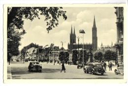 CARTOLINA   WIESBADEN - GERMANIA GERMANY - WILHELMSTRASSE BLICK AUF MARKTKIRCHE - Ansichtskarten