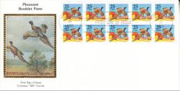 U.S.A. 1988.FDC BOOKLET PANE. PHEASANT.  CN2955 - Premiers Jours (FDC)