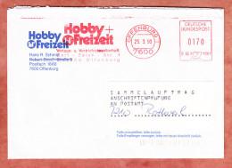 Brief, Sammelauftrag Anschriftenpruefung, Francotyp-Postalia B66-1201, Hobby + Freizeit, 170 Pfg, Offenburg 1993 (69125) - Briefe U. Dokumente