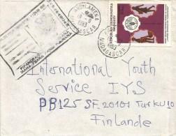 Madagascar 1983 Andilamena FAO Overprint Cover Communication Handstamp - Madagaskar (1960-...)