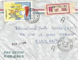 Madagascar 1985 Antsirabe Solidarity Palestina Registered Cover - Madagaskar (1960-...)