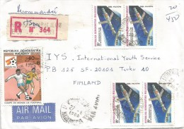Madagascar 1985 Antananarivo Space Sputnik Football Registered Cover - Brieven & Documenten