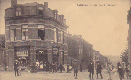 SALZINNES  Rue Des 4 Maisons Rare  Super Animé,Boulangerie Stiénon-Colin Circulé En 1929 - Namen