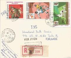 Madagascar 1983 Antananarivo Olympic Games Moscow Judo Martial Football Registered Cover - Madagaskar (1960-...)