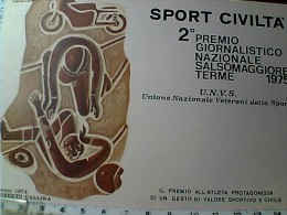 MOTO  MOTOCICLISMO SPORT CIVILTA PREMIO SALSOMAGGIORE 1975  R GALLINA  N1975  EO10706 - Motociclismo