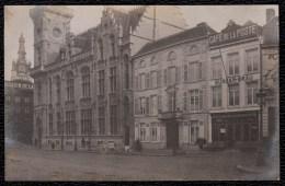 ZELDZAME FOTOKAART COURTRAI - KORTRIJK 1907 * MAISON BROUCKAERT - CAFE DE LA POSTE en DE POST *