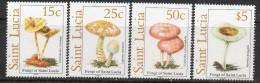 St Lucia 1989 - Fungi SG1022-1025 MNH Cat £12.25 SG2015 - St.Lucie (1979-...)