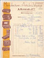 25.-  BESANCON .- A. GERST & Cie .- Manufacture D' Articles  De Voyage - Trasporti