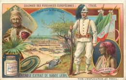 CHROMO LIEBIG COLONIES EUROPEENNES ITALIE  FEMME SOMALIE - Liebig