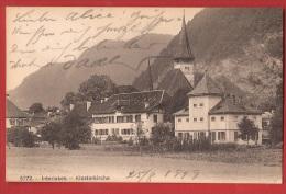 TDS-10  Interlaken Klosterkirche   Gelaufen In 1919 Nach Biel - BE Berne
