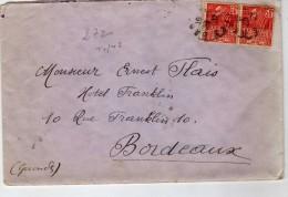 Philatélie - Enveloppe Timbrée Circulée - Paire 50 C Rouge Exposition Coloniale 1931 - Type 1 ? - Vieux Papiers