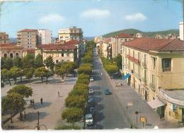 EBOLI ( SALERNO ) VIALE AMENDOLA - ACQUERELLATA - 1966 - EDIZIONE ASSOCIAZIONE TABACCHI   ( 483 ) - Salerno