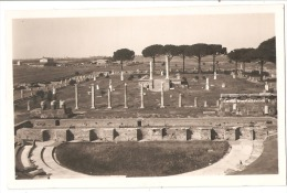 OSTIA ( ROMA ) -  CARTOLINA FOTOGRAFICA - VEDUTA DEL TEATRO - EDIZIONE BRUGNER  ( 492 ) - Italia