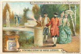 CHROMO LIEBIG  LA PRODUCTION DU FEU - Liebig