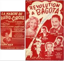40-60  HUMOUR PARTITION X 2 FRED ADISON ZAPPY MAX MARCHE DU RADIO CIRCUS RÉVOLUTION À BAGOTA DELAUNEY DANIELL - Autres