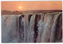 ZAMBIA - SUNSET AT VICTORIA FALLS / NDOLA CANCEL-1971 - Zambia