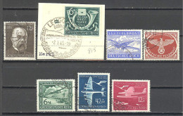 Allemagne: 7 Valeurs  Yvert N° 783°; 815°; A 59/61°; FM 1/2°; Used; Cote 4.65€; Voir Le Scan - Luftpost
