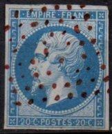 FRANCE - 20 C. Oblitéré Losange Rouge FAUX - 1853-1860 Napoleone III