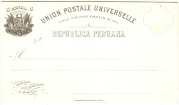 LBL289 - PEROU EP CP EMISSION 1883 5c  NEUVE - Peru