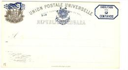 LBL289 - PEROU EP CP EMISSION 1884 2c SUR 5c NEUVE - Pérou
