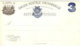 LBL289 - PEROU EP CP EMISSION 1884 3c SUR 3c  NEUVE - Peru