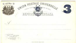 LBL289 - PEROU EP CP EMISSION 1884 3c SUR 3c  NEUVE - Pérou