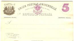 LBL289 - PEROU EP CPRP EMISSION 1884 5c SUR 5c  + 5c SUR 5c  NEUVE - Peru