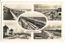 Cp, 17, Chatelaillon, Multi-Vues, Voyagée 1951 - Châtelaillon-Plage