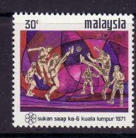 MALAYSIA 1971 MICHEL NO  92 MNH