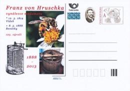Czech Rep. / Postal Stat. (Pre2013/98) Franz Von Hruschka (1819-1888), (2 Pieces), Inventor Honey Extractor, 125 Years - Honeybees