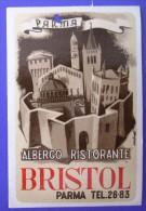 HOTEL ALBERGO PENSIONE GRAND BRISTOL PARMA ITALIA ITALY TAG DECAL STICKER LUGGAGE LABEL ETIQUETTE AUFKLEBER - Etiquettes D'hotels