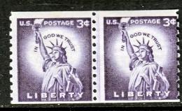 U.S. 1057X2  Line Pair  Small Holes  Shiny Gum   ** - Coils & Coil Singles