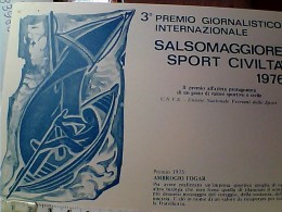 VELA  SPORT CIVILTA 3° PREMIO SALSOMAGGIORE  AMBROGIO  FOGAR  N1976  EO10707 - Sailing