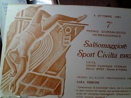 SALTO ALTO SPORT CIVILTA 7° PREMIO SALSOMAGGIORE SARA SIMEONI N1982  EO10710 - Atletica