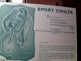 CICLISMO SPORT CIVILTA X° PREMIO SALSOMAGGIORE MARIA CANINS N1986  EO10713 - Cycling