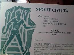 MARCIA SPORT CIVILTA XI° PREMIO SALSOMAGGIORE M DAMILANO N1987  EO10714 - Athletics