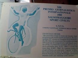 CICLISMO SPORT CIVILTA XIII° PREMIO SALSOMAGGIORE FRANCESCO MOSER N1989  EO10715 - Cycling