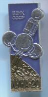Space, Cosmos, Spaceship, Space Programe - LUNA 20,  Russia, Soviet Union, Vintage Pin, Badge - Space