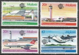 Malawi 1983 Bicentenary Of Manned Flight. Kamuzu International Airport. MNH Complete Set. SG 679-682 - Malawi (1964-...)