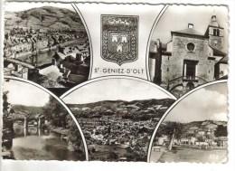 CPSM SAINT GENIEZ D'OLT (Aveyron) - 5 Vues - France