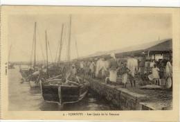 Carte Postale Ancienne Djibouti - Les Quais De La Douane - Bateaux - Djibouti