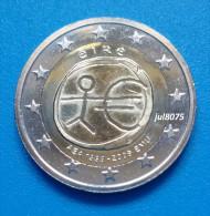 2 Euro Commemorative Irlande 2009 EMU 10ans De L´euro 1999-2009 PIECE NEUVE UNC - Irlande